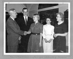Huntington High School Sen. Laurie Cahill receiving 4-year college scholarship,1962