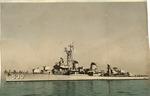 USS Trathen (DD530) Fletcher-class destroyer, U.S. Navy, ca. 1955