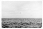 Island near Japan being practice bombed by US jets, ca. 1955
