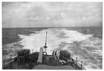 USS Trathen on high speed run, near, Japan, ca. 1955