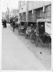 Rickshaws in Sasebo, Japan, ca. 1955