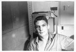 Seaman 1st Class Mark Freeman, US Navy, aboard the USS Trathen, 1955