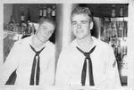 Seaman Mark Freeman & unidentified friend, Sasebo, Japan, ca. 1955
