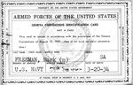 Military identification card of Seaman Mark Freeman, ca. 1950's, b&w