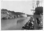 Merchant ship entering Panama Canal, 1955