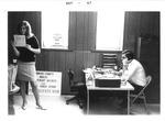 Mark Freeman & Katherine Hughes at WVa Employment Services office, Oct 1967