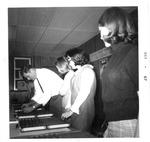 Mark Freeman with test equipment for WVa State Employment Service,Oct 1967