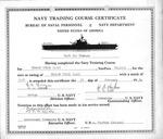 Navy Training Course Certificate of Mark Freeman, Feb. 30, 1954, b&w