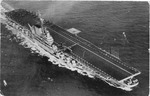 Aircraft carrier US Valley Forge (CV-45) nearing Norfolk Naval base