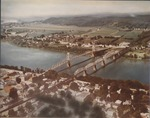 Aerial view of Pt. Pleasant, W.Va. showing Silver Bridge