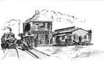 Ohio River RR station, Huntington, W.Va.