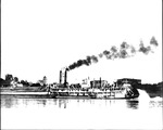 Steamboat Smokey City passing Huntington, W. Va. & Marshall college, [ca. 1899.]