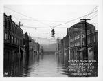 8th St & 4th Ave, looking north, 1937 Flood, Huntington, W.Va.