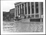 Coast Guard boat, 4 Ave & 7 St, 1937 Flood, Huntington, W.Va.