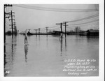 Railroad Ave & 14th St, looking west, 1937 Flood, Huntington, W.Va.