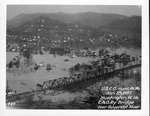C&O Rwy bridge over Guyandotte River, 1937 Flood, Huntington, W.Va.