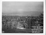 East end from 28th St hill, 1937 Flood, Huntington, W.Va.