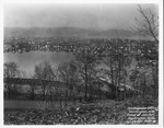 East end from 28th Street hill facing north, 1937 Flood, Huntington, W.Va.