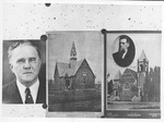 Collage photo of 2 views of 5th Ave. Baptist Church, Huntington