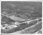 Aerial view of Eastern Heights shopping center, 1961