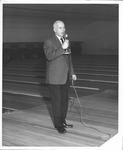 David F. Rose at grand opening of Robin Bowling Lanes, Huntington, W.Va.