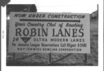Sign for Robin Bowling Lanes, Huntington, W.Va.