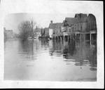 Scene of Huntington in 1937 flood, looking toward Marshall College