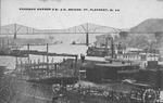 Kanawha Harbor & B&O RR bridge, Pt. Pleasant, W.Va.