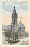 City hall, Cincinnati, Ohio, 1923.