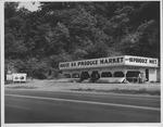Route 60 produce market, ca. 1955.