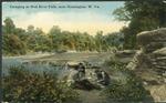 Camping at Mud river falls, near Huntington, W. Va., 1916.