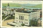 Bird's eye view showing city hall and court house, Huntington, W. Va.