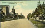 Looking west from 10th st. on 5th ave., Huntington, W. Va., ca. 1910.