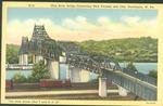Ohio river bridge connecting West Virginia and Ohio, Huntington, W. Va., ca. 1940.