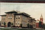 High school and Oley school beyond, Huntington, W. Va., ca. 1914.