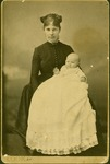 Unidentified female holding baby, ca. 1880's