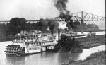 Steamboat G. W. Thomas pushing barges at Pt. Pleasant, W.Va.
