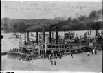 Steamboats Courier and Robt P. Gillham at dock at Pt. Pleasant, W.Va.