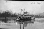 Steam tow boat D. T. Lane on the Ohio River, Ca. 1915