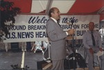 Marvin Stone at the ground breaking for US news HQ Bldg