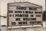 Photo of sign at Baird Ward, printer