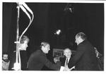 Marvin Stone shaking hands with Ronald Reagan