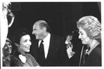 Marvin Stone with Barbara Walters prior to Reagan-Carter debate