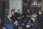 Marvin Stone, Charles Wick, Amb. Schnabel call on Prime Min. Harri Holkeri