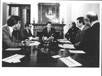 Pres. Ronald Reagan with Marvin Stone meeting at Blair House