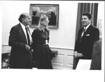 Pres. Ronald Reagan with Marvin Stone at White House