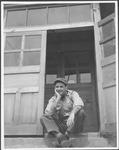 Marvin Stone at barracks, Korea