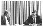 Marvin Stone interviewing W.Va. Gov. Jay Rockefeller