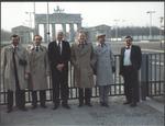 Marvin Stone at Brandenburg Gate, East Berlin
