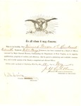 Appointment of Nimrod Mason as 1st Lieutenant in the 7th WVa Cavalry (US), May 15, 1865